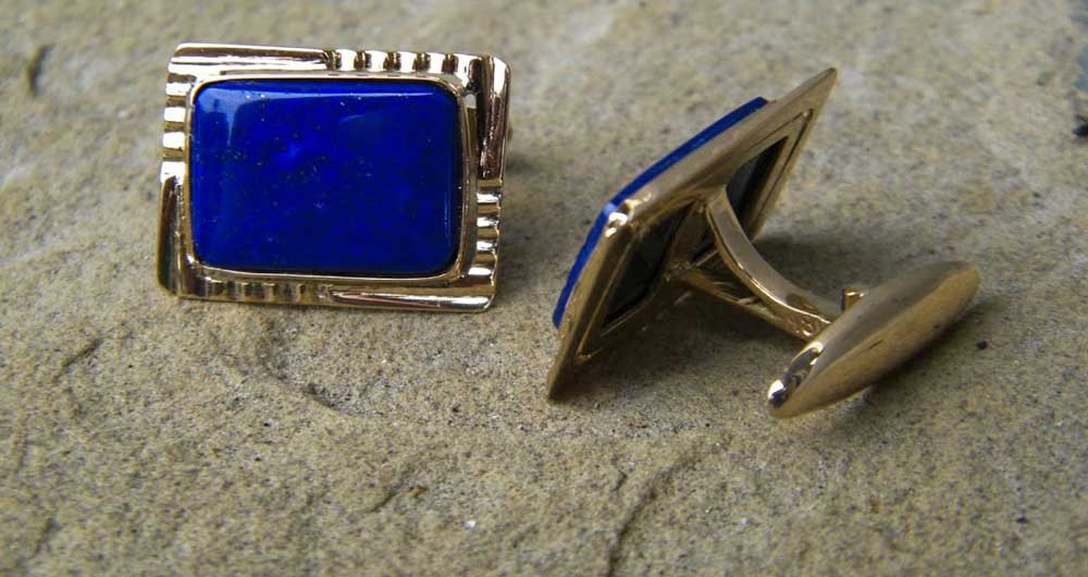 Blue-cuff-links